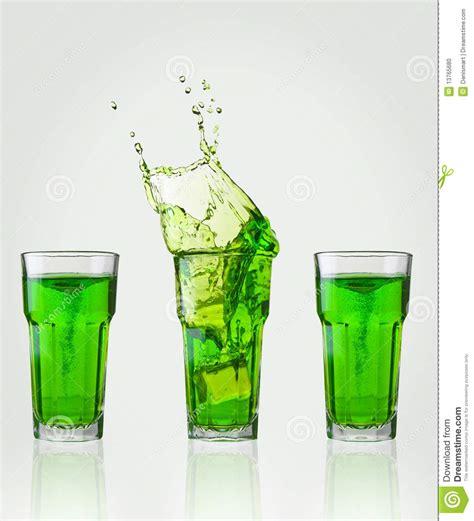 green drink green drink splash stock photo image of still cube