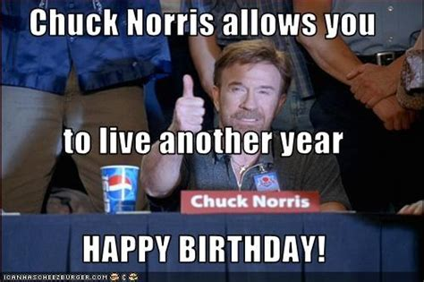 Chuck Norris Birthday Meme - happy birthday adrian and mariah you figure out their