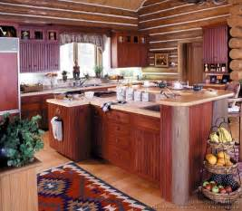 Kitchen Cabinet Island Design Ideas Log Home Kitchens Pictures Design Ideas
