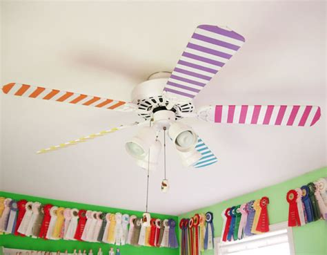 Ceiling Fan Decorations by Ceiling Fan Painting Make It In Own Style
