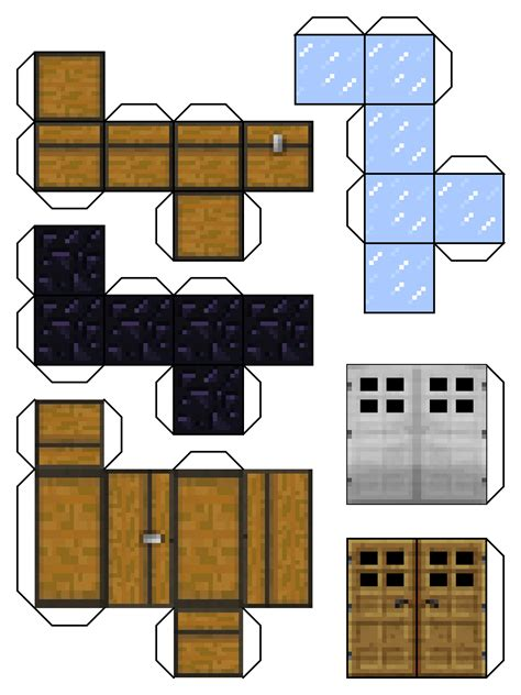 Minecraft Papercraft - activities on paper models paper toys