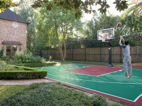 Backyard Basketball Courts In Austin Sport Court 174 Of Austin Home Basketball Court Design