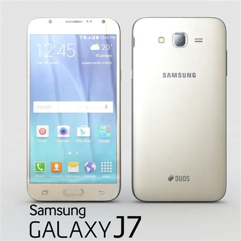 3d model samsung galaxy j7 gold