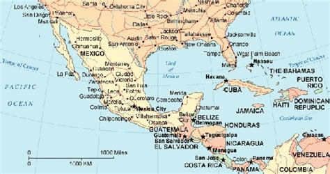 map of usa mexico and central america printable maps of mexico and central america 9jasports
