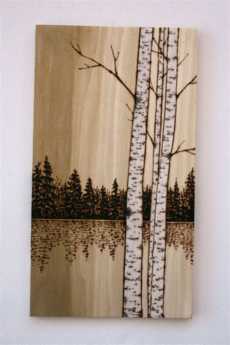 birch trees design etsy birch trees on wood wood burning by twigsandblossoms on etsy pyrography