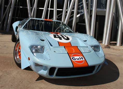 gulf car pair of rare ford gt40s for sale at rm s monterey auction