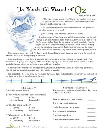 reading comprehension test for 5th grade 5th grade reading practice education com