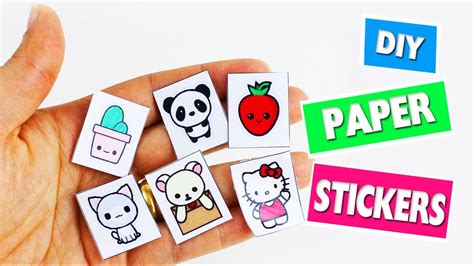 How To Make A Sticker Out Of Paper - back to school crafts paper stickers