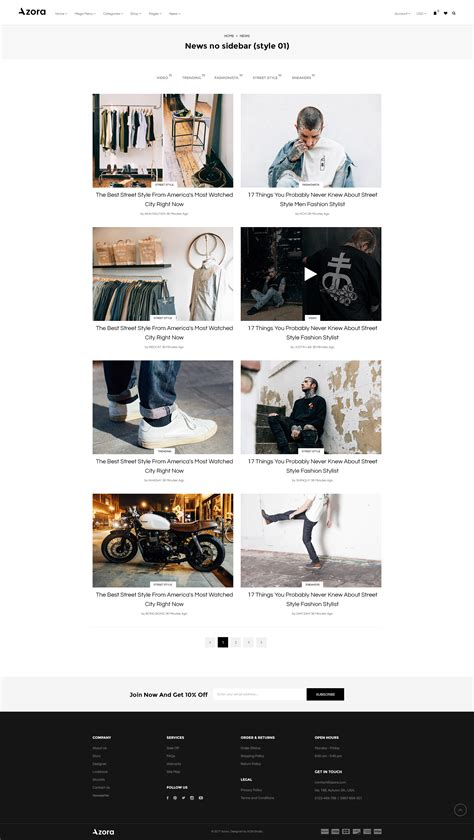 newspaper theme sidebar azora ecommerce psd template for fashion store by kchi