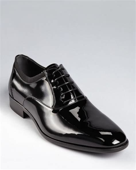 ferragamo aiden formal laceup dress shoes in black for