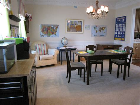 Homeschool Dining Room by Setting Up A Homeschooling Room