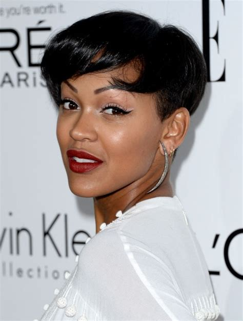 megan good hairstyles 2014 meagan good s short hairstyles black pixie crop with soft