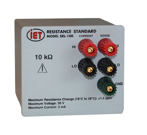 standard resistor bath srl series high stability resistance standards iet labs inc