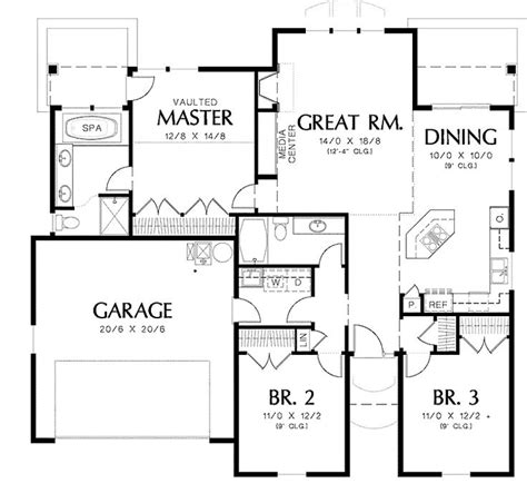 36 Best Images About The Home After This One On Pinterest 1500 Square Foot Bungalow House Plans