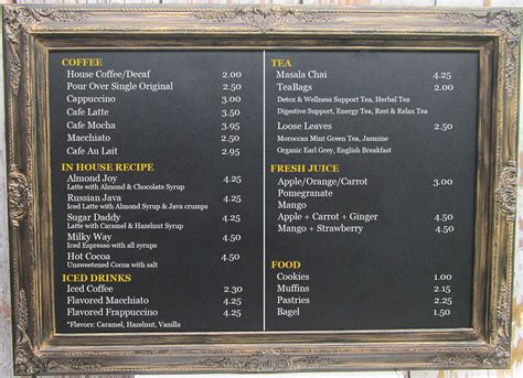 menu for large large restaurant chalkboards for sale coffee house menu