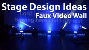 Led Tv Wall Panel Designs church stage design ideas faux video wall youtube