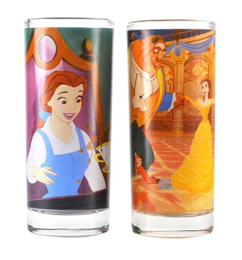 and the beast set disney and the beast set of 2 glasses