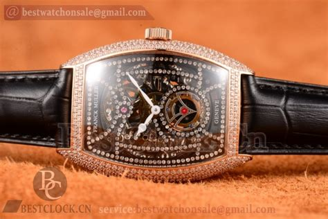 Franck Muller Color Dreams Rosegold Purple Leather franck muller cintree curvex skeleton a2813 diamonds