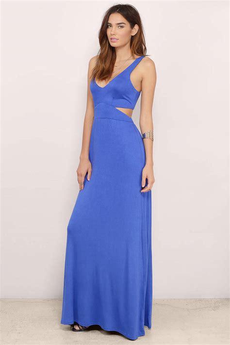 Slit Dress Maxi Dress Wanita Gitta Slit esther side slit maxi dress 48 00 tobi