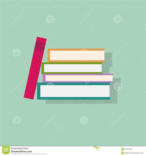 book layout eps book stack flat icons design vector stock vector image
