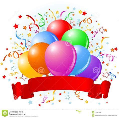 Birthday balloons design stock vector illustration of shape 12389749
