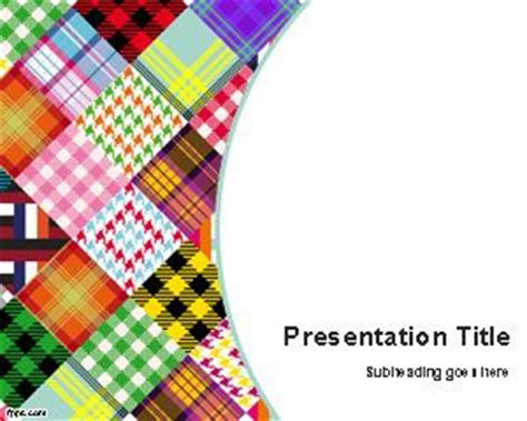 textiles templates free colored fabrics powerpoint template
