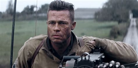 army haircut fury brad pitt strayhair