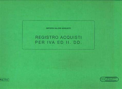 libreria giuridica bergamo registro acquisti per iva ed ii dd in catalogo registri