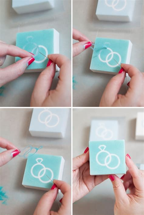 How To Make Paper Soap - learn how to make diy stenciled wedding soap favors