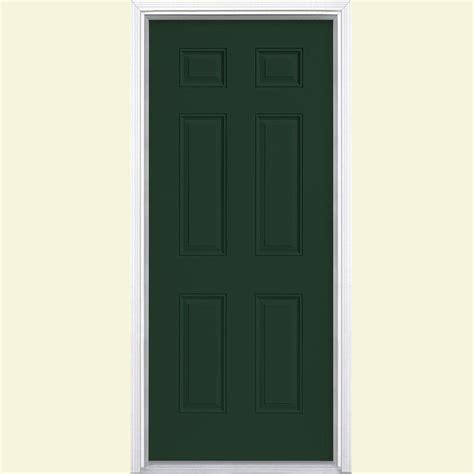 Masonite 36 In X 80 In 6 Panel Painted Steel Prehung Steel Exterior Doors Home Depot