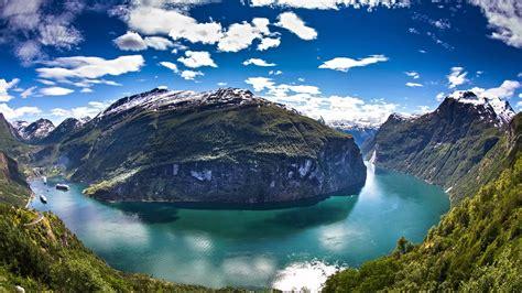 fjord water wallpaper norway geiranger fjord water mountains