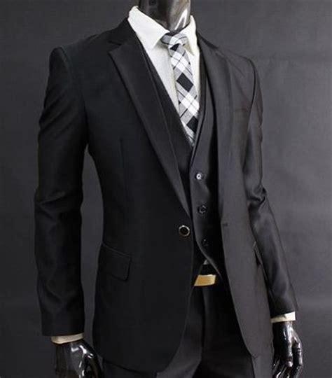 19642 White Black Suit black and white aim2win gent sartoriale dressy gentleman s style style