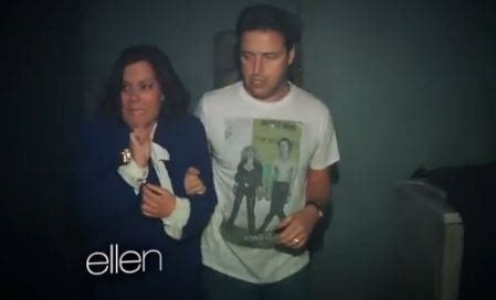 ellen sends andy to haunted house ellen sent her crew to a haunted house and it s the funniest pophangover