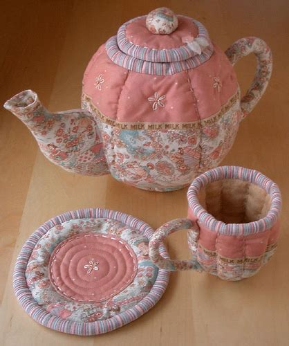 Patchwork Pottery - quilted tea set patchworkpottery flickr
