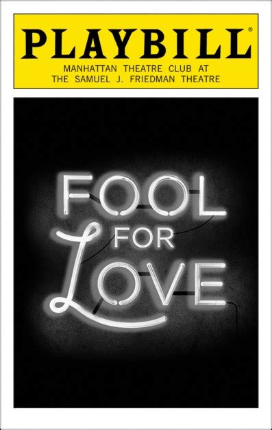 fool for love and fool for love broadway samuel j friedman theatre tickets and discounts playbill