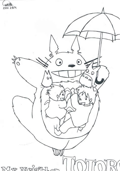 mon voisin totoro coloriage coloring pages pinterest