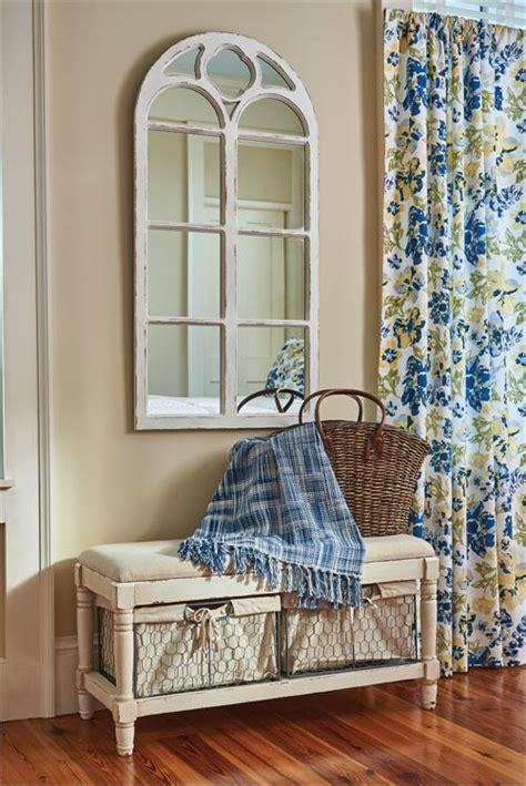 Wood Window Mirror Distressed White Modern Rustic Home