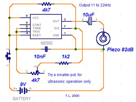 ceramic capacitor whistle how to build ultrasonic whistle circuit diagram