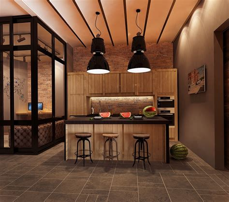 industrial kitchen designs applied with fashionable decor industrial kitchen designs applied with fashionable decor