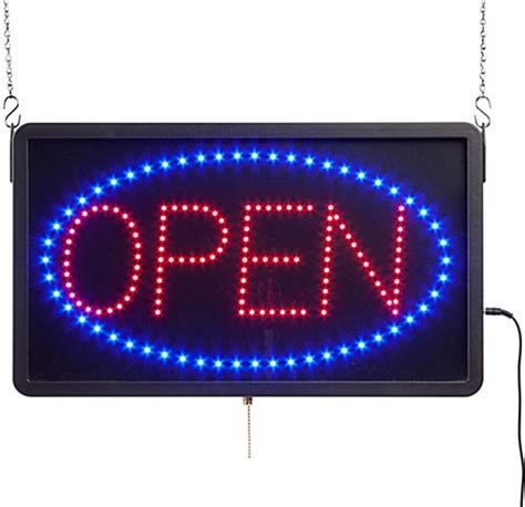 Led Sign Open glowing led open sign 3 different programmable animations