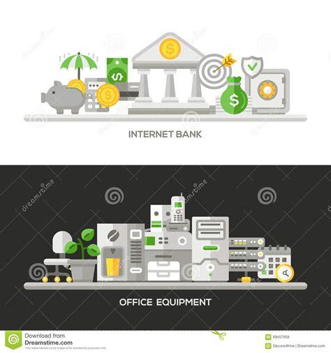 homepage design concepts flat line business concept web site banners set vector