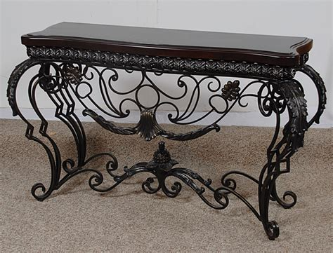 iron and glass sofa table wrought iron sofa table rod iron sofa table image
