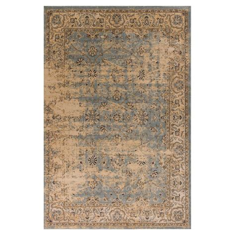 home depot rugs 7 x 10 kas rugs horizons blue ivory 7 ft 10 in x 10 ft 6 in area rug jas3755710x106 the home depot