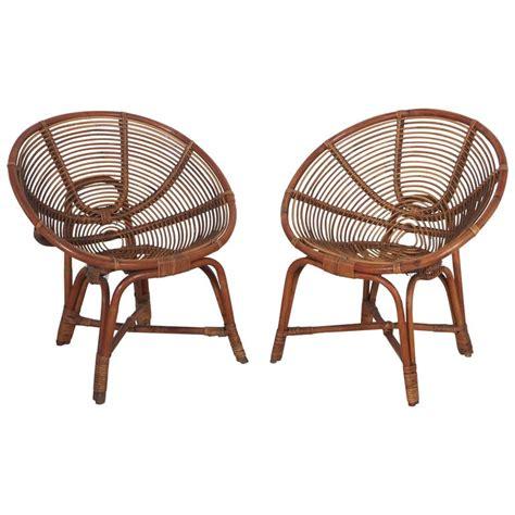 italian round bamboo lounge chairs at 1stdibs