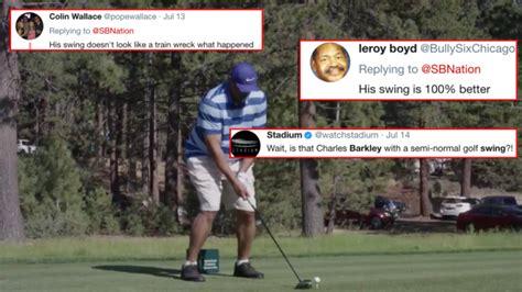 barkley golf swing charles barkley s golf swing has somehow improved fans