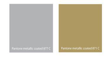 Pantone metallic silver and gold