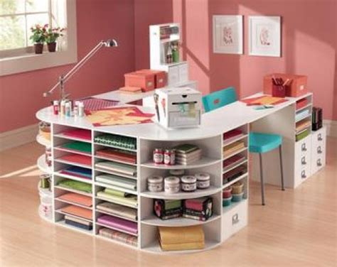 diy craft desk with storage how to make a crafting table that organizes everything