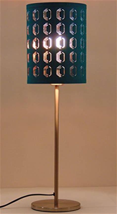"Ikea Nymo Table Lamp 26"" Nickel Plated Turquoise 7.5"