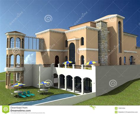 spanish style villa spanish style villa stock images image 13931934