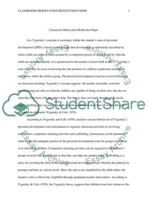 Class Observation Essay by Classroom Observation Essay Exle Topics And Well Written Essays 1000 Words